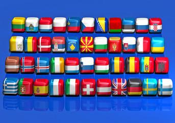 Bandiere Europa 3d cubo