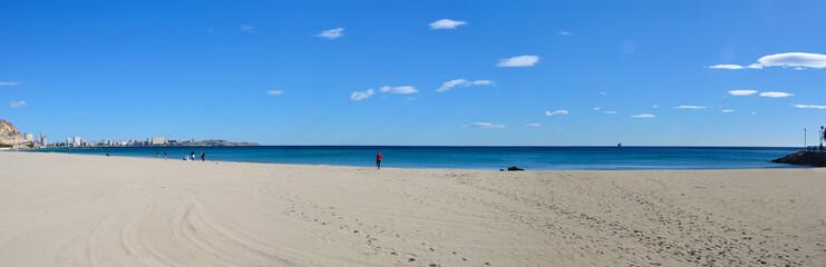 Panorama of Alicante beach, Spain