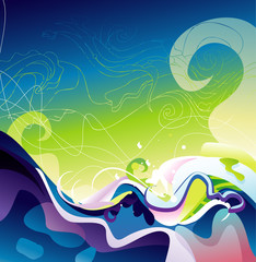 color motion abstract design vector