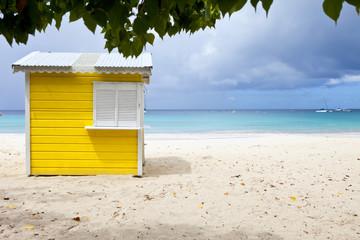 beach hut in barbados