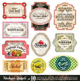 Etikety Vintage Collection - Set 10