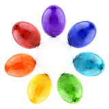 Easter egg rainbow circle