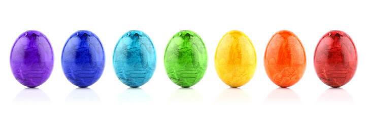 Easter egg rainbow row
