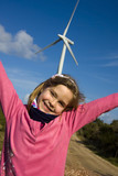 girl with renewable energies poster