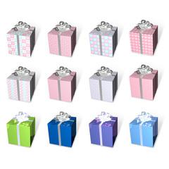 3d present box array