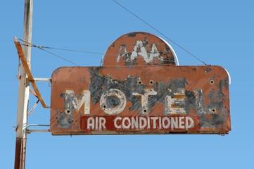 Vintage motel sign on old Route 66
