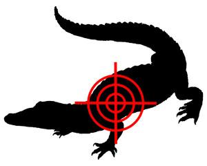 Krokodil Fadenkreuz