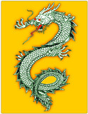 Dragon mythology art history illustration symbol icon sign poster