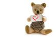 Alter Bär mit Herzkarte