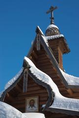 Деревянная часовня у водопада Гремячий