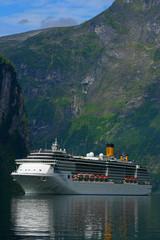 Cruise Ship Geiranger Fjord - Vertical