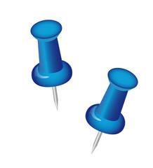 Zwei blaue Pins