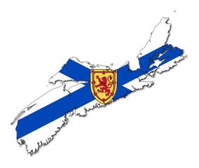 Nova Scotia map flag