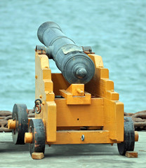 An Old Naval Gun guarding the Harbor.