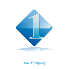 Logo water, number one # Vector