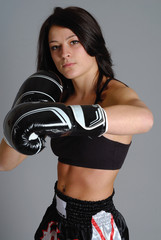 boxeuse brune 17