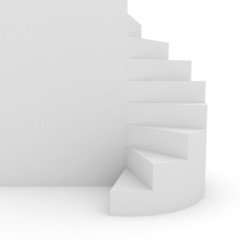White stair over background
