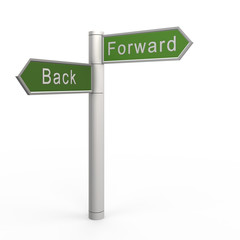 Back or forward