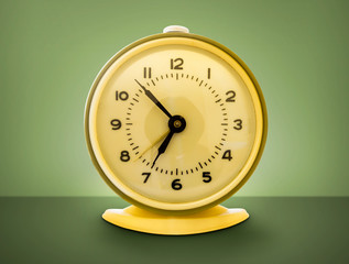 Shot of funky 70's style retro alarm clock.