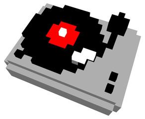3D pixel cartoon style turntable