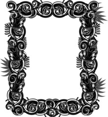 Picture frame made of tentacles and hidden alien creatures
