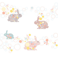 cute seamless easter rabbit pattern