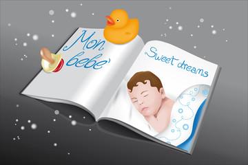 libro bebè azzurro