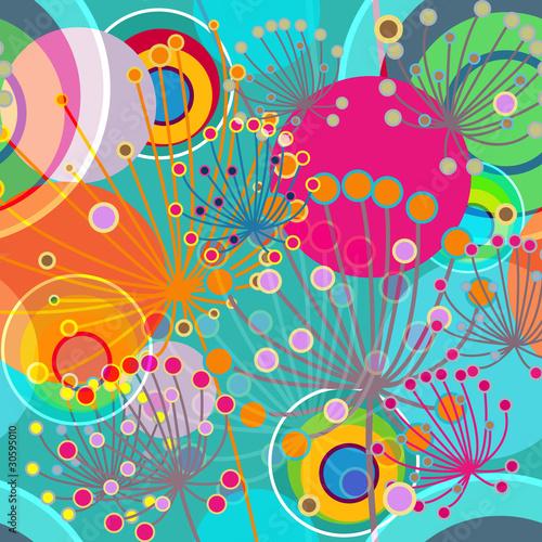 Naklejka Beautiful floral texture