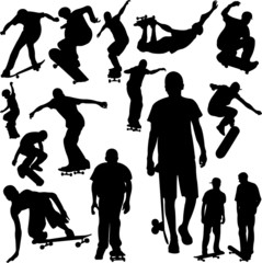 skateboarding collection vector