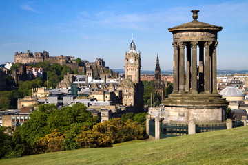 Edinburgh Summer City and Castle View