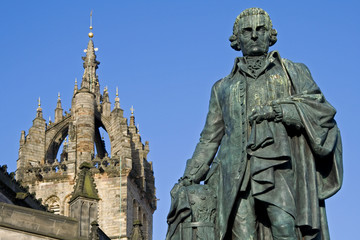 Adam Smith, Monument and St Giles Cathedral Edinburgh
