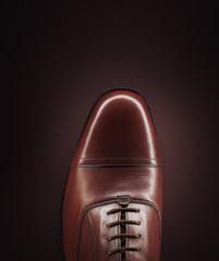 Close up of man?s shoe