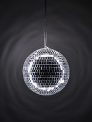 Close up of mirrored disco ball