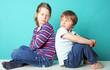 Leinwanddruck Bild - Kinderstreit