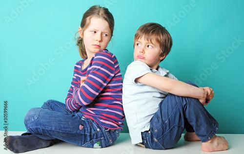 Leinwanddruck Bild Kinderstreit