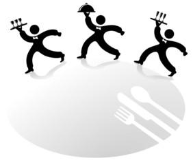 3 Kellner-Servieren