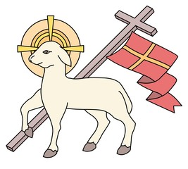 Lamb as a symbol of Easter