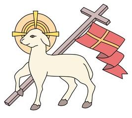 Lamb as a symbol of Easter