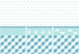 seamless baby boy pattern, blue wallpaper set