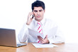 Businessman on a phone call