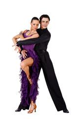 Latino dancers posing