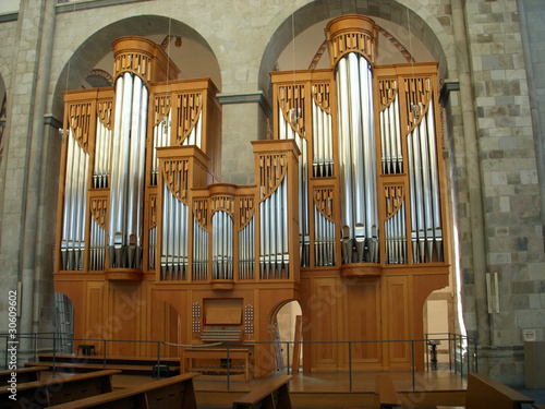 Organ in St. Kunibert Church in Cologne