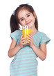 Girl drinking juice