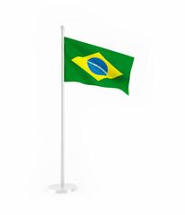 3D flag of Brazil