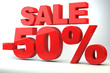 Sale - price reduction of 50%