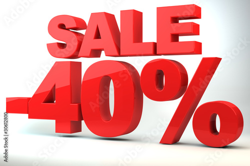 Sale - price reduction of 40%