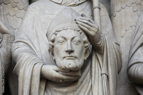 Saint Denis, first bishop of Paris at the Notre Dame cathedral