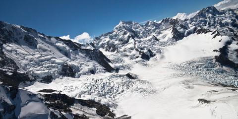 Snow landscape aerial photo