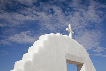 """Cross on top of church, Taos, New Mexico, United States"""