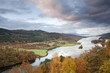 """""""Autumn trees and Loch Faskally, Pitlochry, Scotland"""""""
